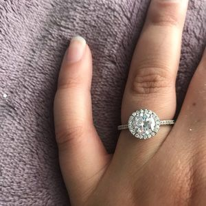 Engagement ring - not real but does not tarnish